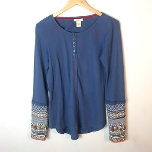 Sundance | Embroidered Stitch Thermal Top